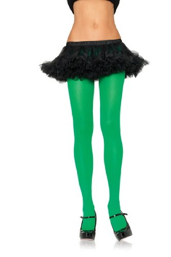 Leg Avenue Women's Nylon Tights, Kelly Green, One Size