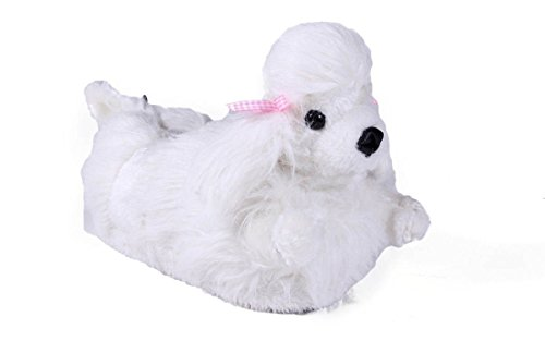 9013-5 - Poodle - XX Large - Happy Feet Animal Slippers