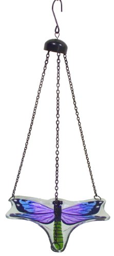 Continental Art Center CAC2610320B Hanging Dragonfly Bird Feeder with Chains, 9 by ()