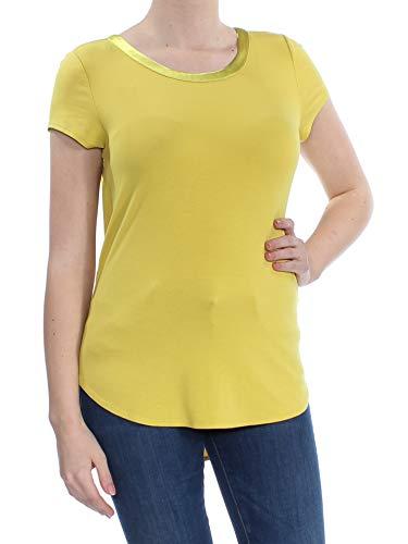 7d7caaf8 Alfani Satin-Trim High-Low T-Shirt (Warm Olive, M)