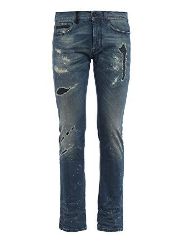 Cotone Marcelo Burlon Cmce003f162390627300 Jeans Uomo Blu wZnCIaqZRx