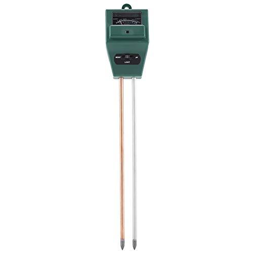 Analyzer Temperature (GLOGLOW 3 in 1 Soil Tester Soil Hygrometer PH Water Moisture Temperature Sunlight Humidity Plant Meter Acidity Analyzer Detector Reader Probe Sensor Garden Lawn Flower)