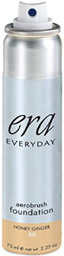 ERA Everyday Aerobrush Foundation Makeup, R6 Honey Ginger, 2.25 ()