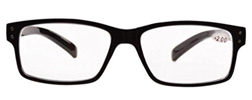 Eyekepper 5-pack Spring Hinges Vintage Reading Glasses Men Readers Black +3.0