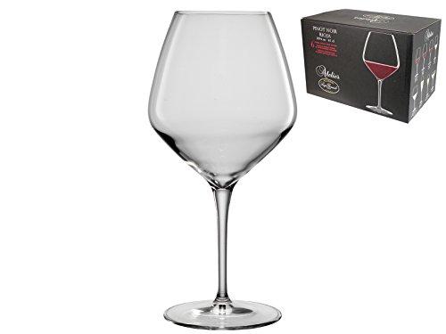 Noir Glasses - Luigi Bormioli Atelier Pinot Noir Wine Glass, 20-5/8-Ounce, Set of 6