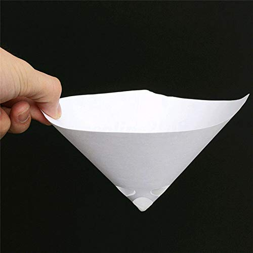 Delleu 50PCS Auto Paint Filters Purifying Cup Micron Nylon Conical Paper Car Mesh Paint Coating Filter Strainers Funnel Purifying Cups