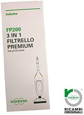 6 SACCHETTI FP200 ORIGINALI VORWERK PER ASPIRAPOLVERE FOLLETTO VK 200