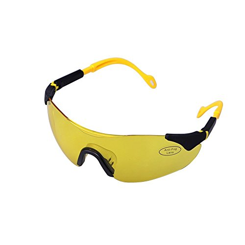 Easyinsmile Fashion Brand New Anti-fog UV Protection Adjustable Safety Glasses with Yellow Tint - With Glasses Tint Yellow
