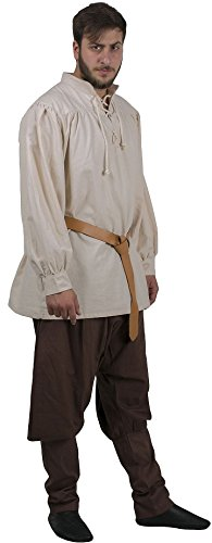 HERMES Medieval Shirt by CALVINA COSTUMES - Made in TURKEY, (Jacobite Costume)