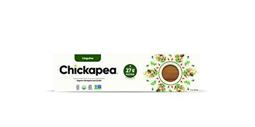 Chickapea Organic Chickpea Lentil Pasta - Linguine - High Protein Gluten-Free Healthy Pasta - 8oz each (6 Pack)