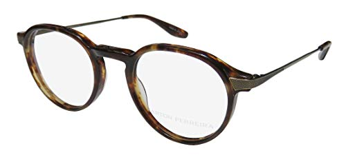 Barton Perreira Watson Mens/Womens Designer Full-rim Fashionable Durable Eyeglasses/Eye Glasses (45-21-145, Havana/Antique Gold) (Gold-designer-brille)