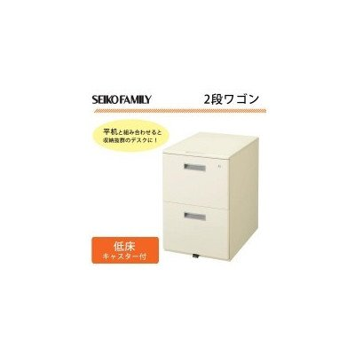SEIKO FAMILY(生興) 日本製 LCSシリーズ(ニューグレータイプ) 2段ワゴン LCS-042CG B06XCF37LQ