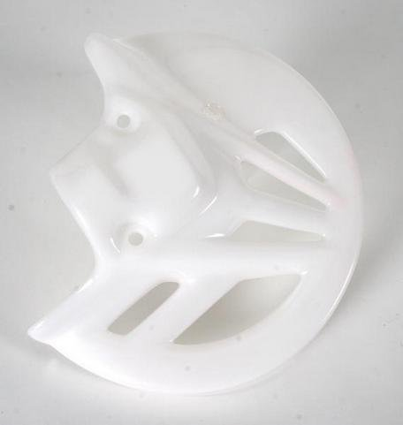 UFO Plastics Front Disc Cover White for Honda CR CRF 125-450 - 2007 Crf 450 Plastics