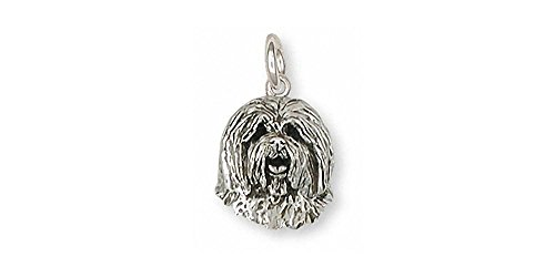 Old English Sheepdog Jewelry Sterling Silver Old English Sheepdog Charm Handmade Dog Jewelry OESH-C
