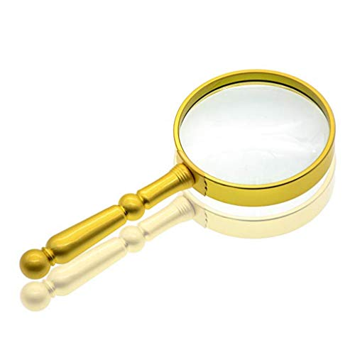 Portable magnifier Handheld Magnifying Glass, 20X, HD Optical Glass, For Elderly Reading, Low Vision, Books, Maps, Handicraft Hobbies, Jewelry, Logos, Stamps, Collectibles And Insects For Close-up Vie