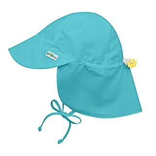 i play. by green sprouts Baby Sun Hat, Aqua, 9-18 Months