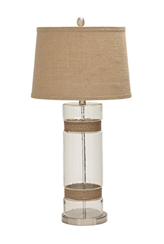 Benzara-Gorgeous-and-Elegant-Glass-Metal-Jute-Table-Lamp