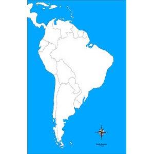 Cartina Geografica Dell America Del Sud.Montessori Nuova Carta Geografica Dell America Del Sud Muta