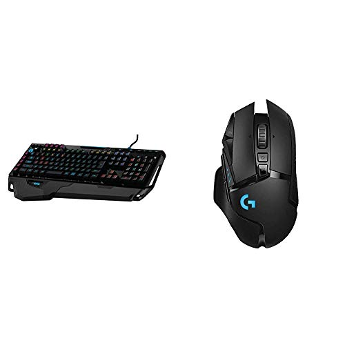 Logitech G910 Orion Spark RGB Mechanical Gaming Keyboard – 9 Programmable Buttons, Dedicated Media Controls & G502 Lightspeed Wireless Gaming Mouse
