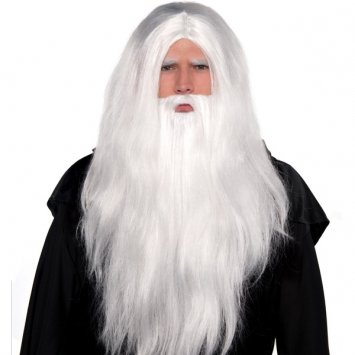 Sorcerer Wig and Beard Set Costume Accessory