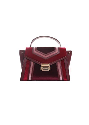 Michael Kors Whitney Tricolor Velvet Leather Satchel Handbag in ()