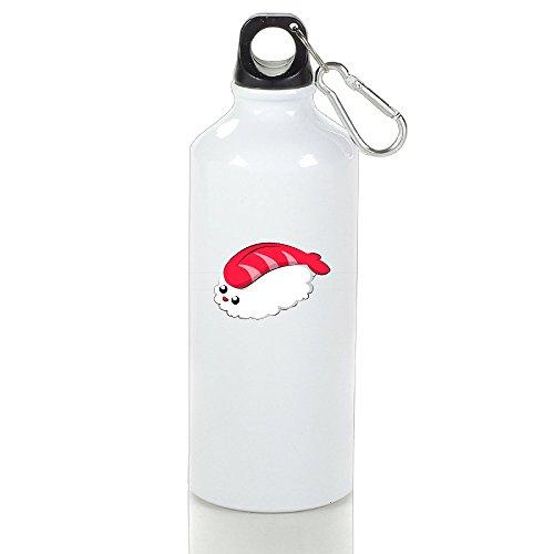 Cutadorns Kawaii Sushi Aluminum Leakproof Sport Water Bottle 600ml