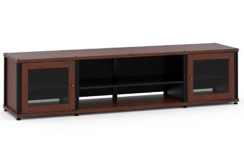 Salamander Designs SB248W/B Synergy Quad Model 248 Cabinet  - Walnut with Black Posts (Quad Synergy)