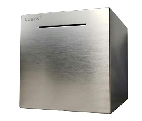 LUSEN Safe Piggy Bank Made of Stainless Stell,Safe Box Money Savings Bank for Kids,Can Only Save The Piggy Bank That Cannot be Taken Out