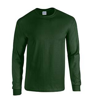(Gildan mens Heavy Cotton 5.3 oz. Long-Sleeve T-Shirt(G540)-FOREST GREEN-M)