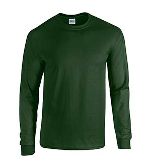 Gildan Mens 5.3 oz. Heavy Cotton Long-Sleeve T-Shirt (G540) -FOREST GRE -L