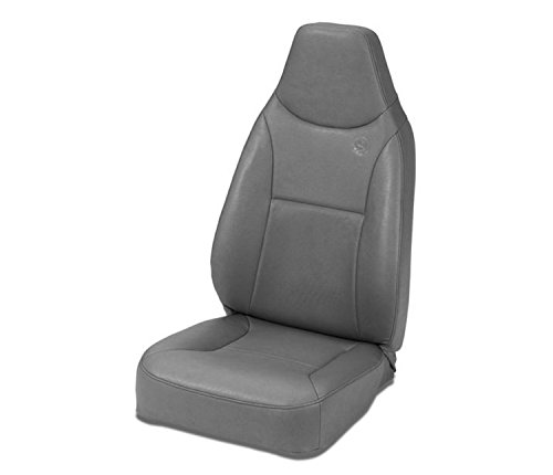 Bestop 39436-09 TrailMax II Charcoal Front High Back All-Vinyl Fixed-Back Single Jeep Seat for 1976-2006 Jeep CJ and Wrangler ()