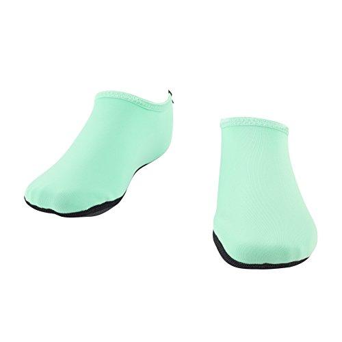 Wowfoot Barefoot Water Skin Shoes Calze Da Donna Da Uomo Flessibile Swim Shoe Beach Aqua Surf Da Piscina Yoga Esercizio Menta