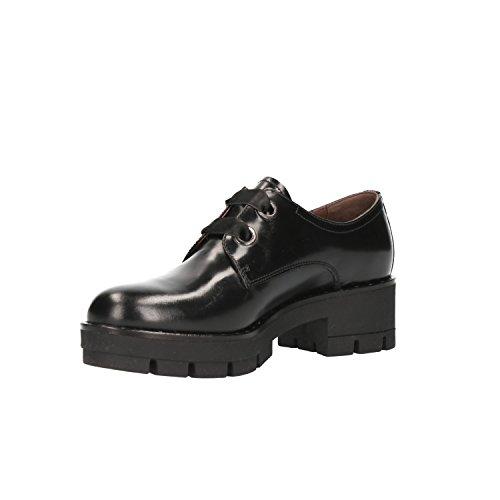 Black Black Flats Lace Nero up Women's A806551D Giardini OZpwq8P