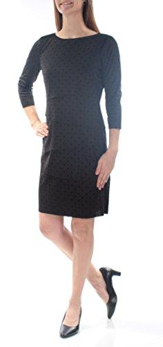 Tahari ASL Womens Tiered Polka Dot Party Dress Black 6 (Dot Polka Tiered)