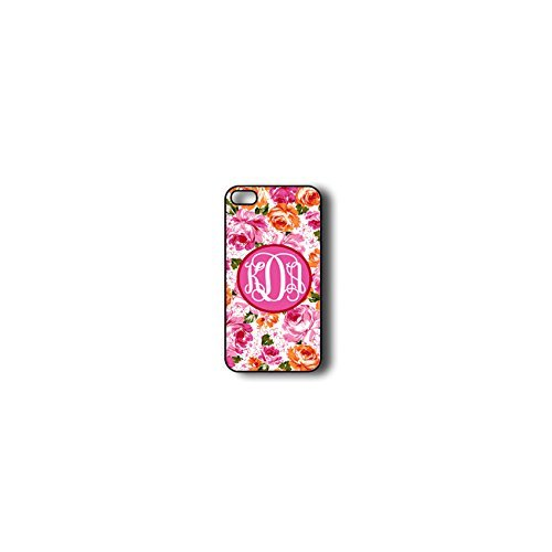 Krezy Case Monogram iPhone 5c Case, Colorful flowers Pattern Monogram iPhone 5c Case, Monogram iPhone 5c Case,...