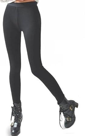 Womens Thick Black Leggings
