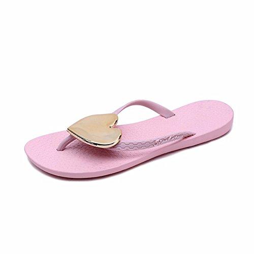 YUCH Usure Chaussons Extérieur Les Pink Antidérapant Accueil Piscine D'Été Sandales Femmes PryPSqA