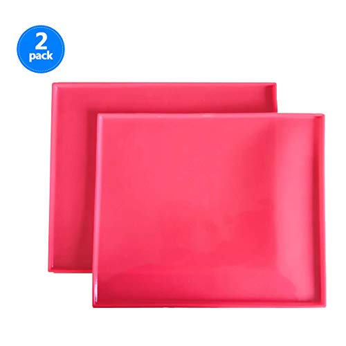 Silicone Baking Mat Set of 2 Non-Stick Reusable Flexible Heat Resistant Red, ()
