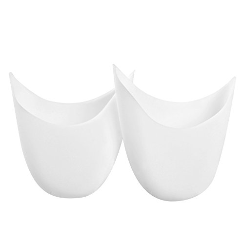 SOUMIT Toe Cover - Soft Silicone Gel Forefoot Cushion Pads, Toe Protector Support Sleeve for Pointe Ballet Dance Shoes Runners Athletes (White)