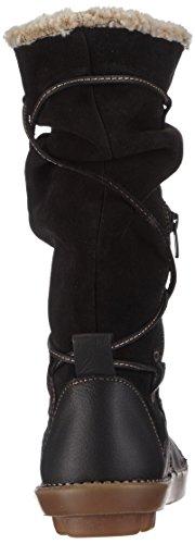 El Naturalista N051 ORGANICO - Botas de caño alto de piel mujer negro - negro