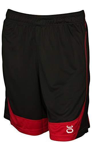 - Jaco Male Jaco Twisted Mock Mesh Shorts (Black/Red)-XXLarge