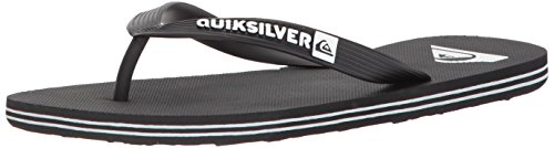 Quiksilver Men's Molokai Sandal Black/White, 11 M US