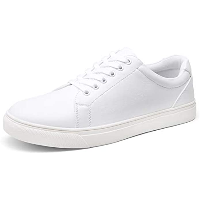 VOSTEY Men's White Shoes Fashion Sneakers for Men White Sneakers Breathable Business Casual Sneakers
