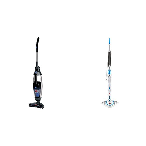BISSELL Lift-Off Hard Floor Bundle - Bissell Lift-Off Floors & More, Titanium, 53Y8 - Cordless and Bissell PowerEdge Lift Off Hard Wood Floor Cleaner, Tile Cleaner, Steam Mop with Microfiber Pads
