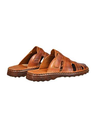 Herren Bequeme Sandalen Schuhe Mit Der Orthopadischen Einlage Aus Echtem Buffelleder Hausschuhe Modell 877 Braun