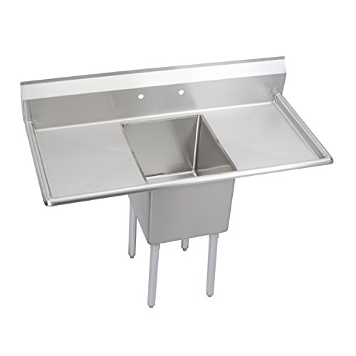 "Elkay Foodservice E1C24X24-2-24X E-Series 1-Compartment Sink with 2 24"" Drain Boards"