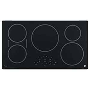 """GE PHP9036DJBB Profile 36"""" Black Electric Induction Cooktop"""