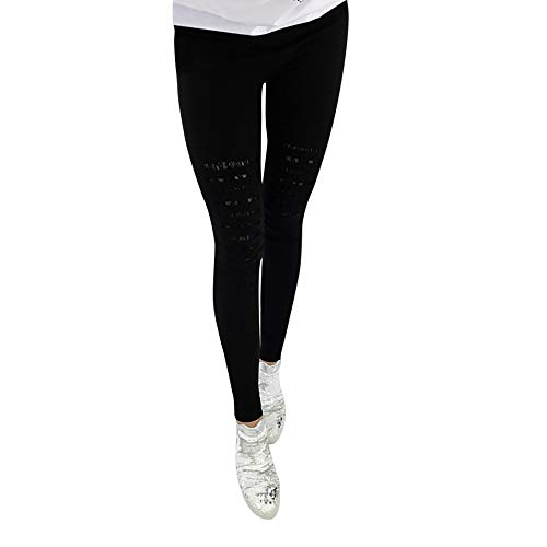 Colmkley Women's Plus Size Skinny Stretch Hole Denim Jeans Ripped Pencil Pants - Jeans Instantly Slimming Aura
