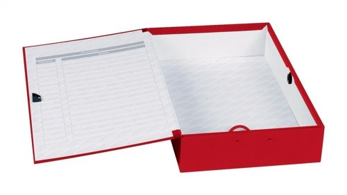 Concord Classic Box File Paper-lock Finger-pull and Catch 75mm Spine Foolscap Red Ref C1279 [Pack of 5]