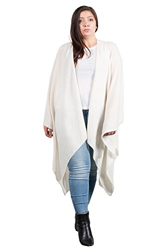 NAKEDCASHMERE Women's Zelda Wrap O/S Chalk by NAKEDCASHMERE